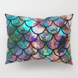 Abstract Black Fish Scales Pattern Pillow Sham