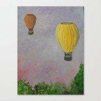 hot air balloon Canvas Prints featuring Hot Air Balloon Adventure by RokinRonda
