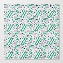 Murder pattern Green Canvas Print