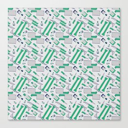 Murder pattern Green Canvas Print