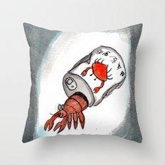 Crab Juice Throw Pillow