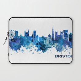 Bristol England skyline Blue Laptop Sleeve