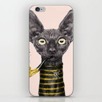 black cat iPhone & iPod Skins featuring Black Cat by dogooder