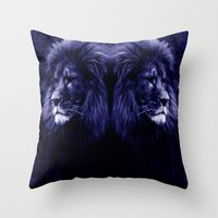 lion Throw Pillows featuring Lion. by 2sweet4words Designs
