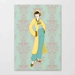 Flapper ready for the new Roaring Twenties! (5) Canvas Print