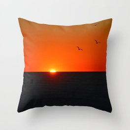 Sunset at the Golden Gate, Chasing the Ephemeral Throw Pillow
