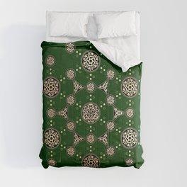 molecule of life. sacred geometry. alien crop circle Comforters