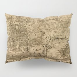 Map Of Palermo 1750 Pillow Sham