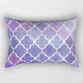 Purples & Pinks Watercolor Moroccan Pattern Rectangular Pillow