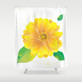 Helianthus - The Color of Vitality, Intelligence and Happiness Shower Curtain