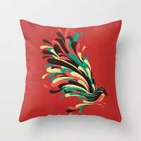 window Throw Pillows featuring Avian by Jay Fleck