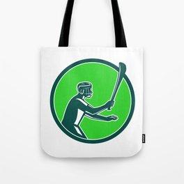 Hurling Player Icon Retro Tote Bag