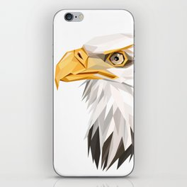 Triangular Geometric American Bald Eagle Head iPhone Skin