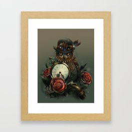 Sir Owl. Steampunk Framed Art Print