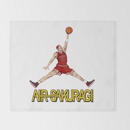 """Air Sakuragi"" Slam Dunk Anime Creative Design Throw Blanket"