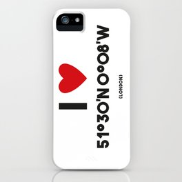 I LOVE LONDON iPhone Case
