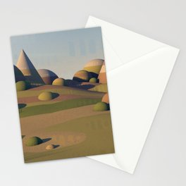Geometric Landscape Stationery Cards