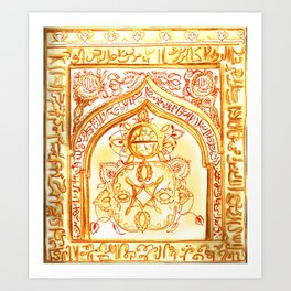 Mughal jharokha (window) Art Print