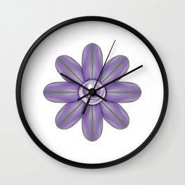 Purple Grey Flower Wall Clock