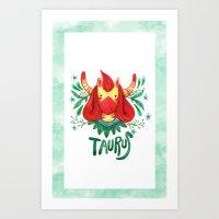 12 Zodiacs : Taurus Art Print