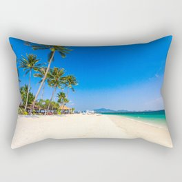 Beautiful white sand beach on Koh Mook island, Trang Province, Thailand Rectangular Pillow