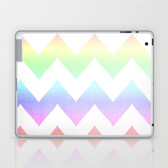 Watercolor Chevrons Laptop & iPad Skin