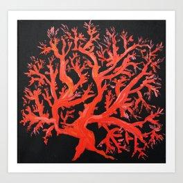 Living coral, original painting Art Print