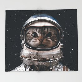 Space catet Throw Blanket