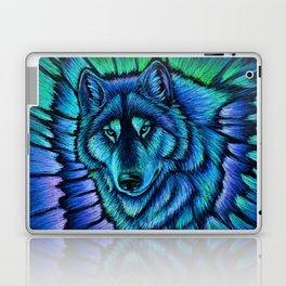 Blue Wolf Aurora Colorful Fantasy Laptop & iPad Skin