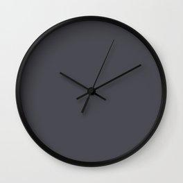 Solid dark grey. Wall Clock