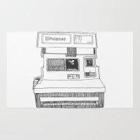 polaroid Area & Throw Rugs featuring Polaroid by ChanelWhite