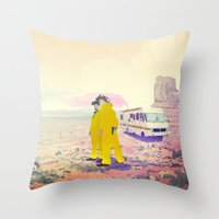 breaking bad Throw Pillows featuring Breaking Bad by PIXERS