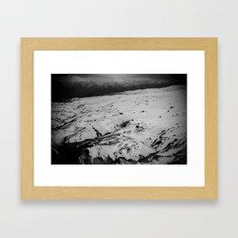 New Zealand Snow Fields Framed Art Print