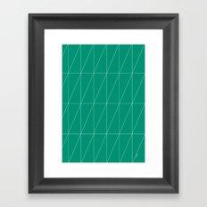 Emerald Triangles by Friztin Framed Art Print