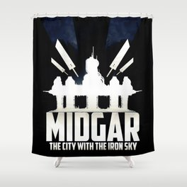 Final Fantasy VII - City with the Iron Sky Shower Curtain