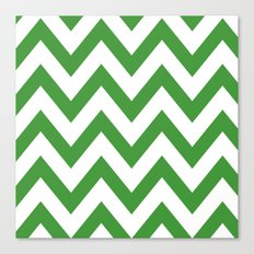 MEAN GREEN CHEVRON Canvas Print