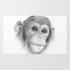 A Chimpanzee :: Not Monkeying Around Rug