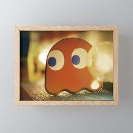 Retro Ghost Framed Mini Art Print