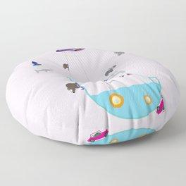 Imaginary world Floor Pillow