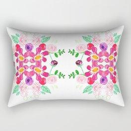 Floral Tile Rectangular Pillow