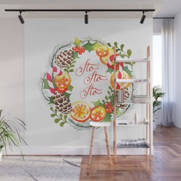 Christmas Wreath Wall Mural