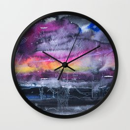 Ballad of a hare and a hedgehog Wall Clock