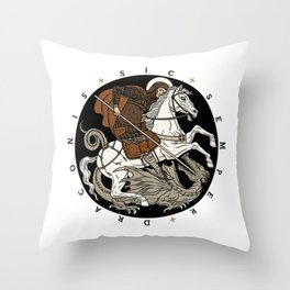 Sic Semper Draconis Throw Pillow