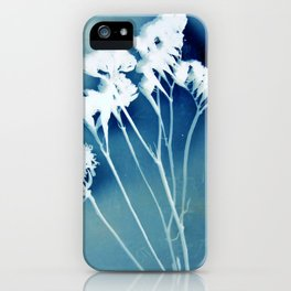 Blue Strawflower iPhone Case