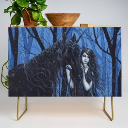 Midnight Travelers Gothic Fairy and Unicorn Credenza