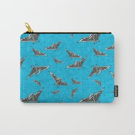 pterosaur flying dinosaur blue Carry-All Pouch