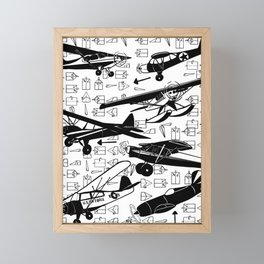 For the love of flying...... Framed Mini Art Print