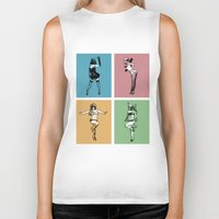 burlesque Biker Tanks featuring Burlesque Wars by V-GRAFIX