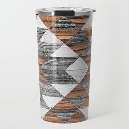 Urban Tribal Pattern No.12 - Aztec - Wood Travel Mug