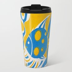 Screenprint Gold and Fish Metal Travel Mug